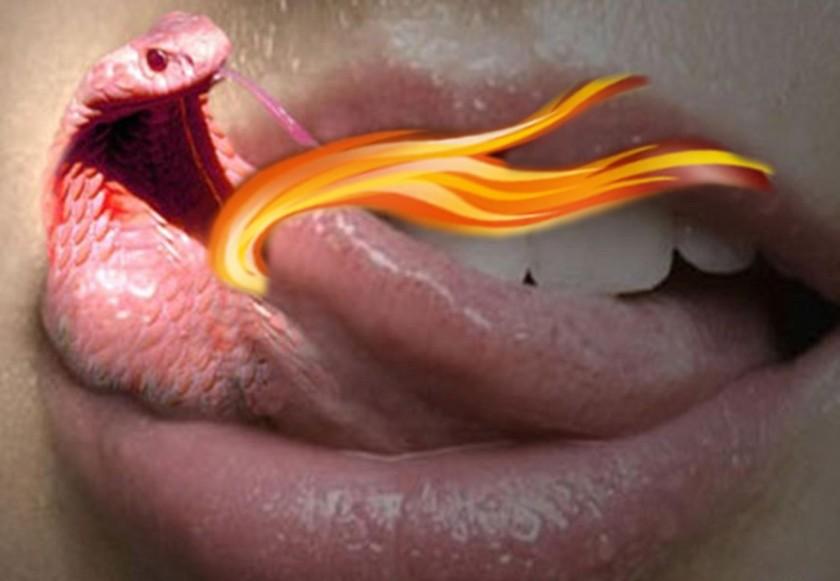 língua perigosa